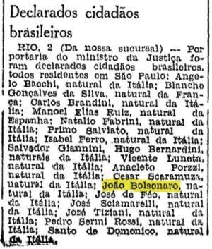 Bolzonaro Vittorio naturalização 1943-06-03 Folha da Manha - Insieme d5d33e2c1d